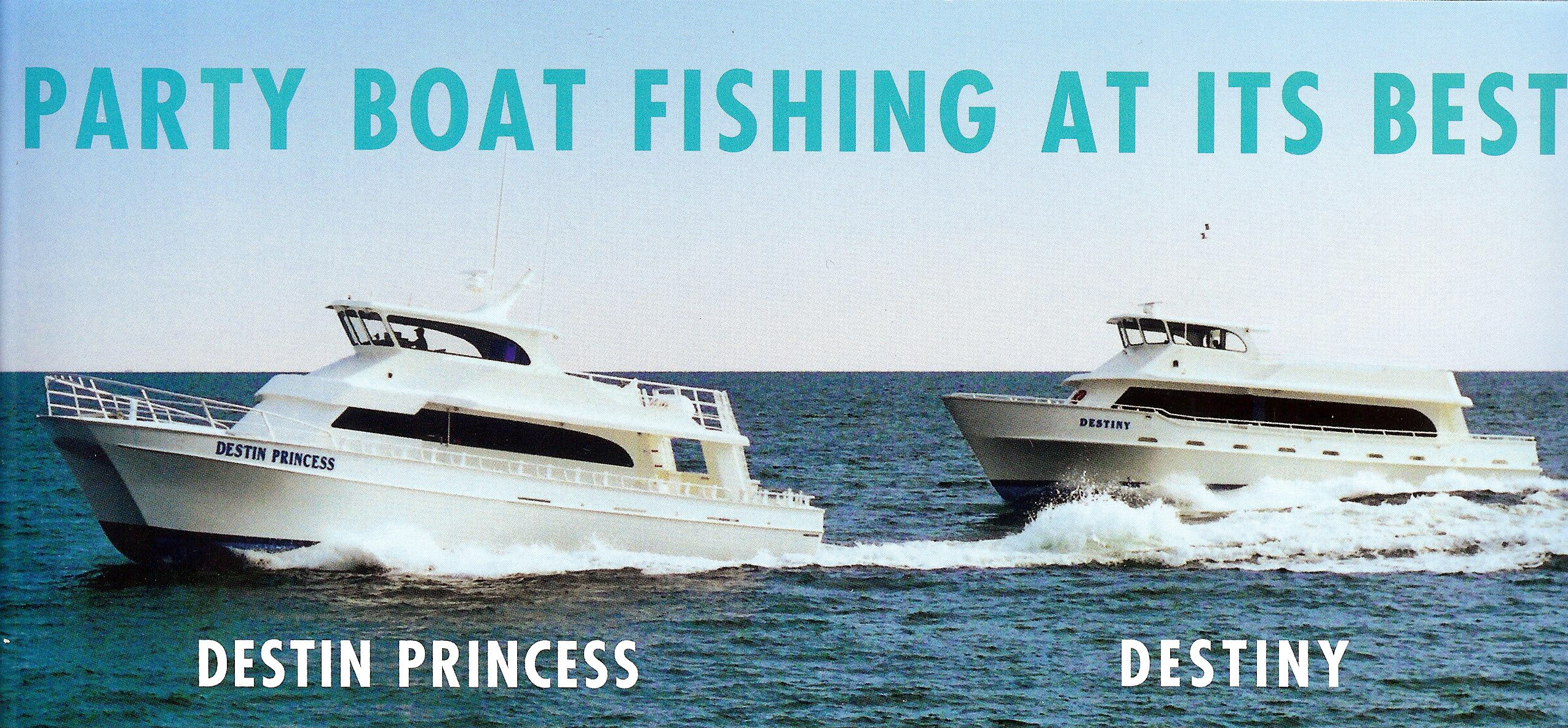 Reunion schedule of events for Pensacola party boat fishing